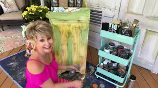 Funky Painted Cabinet Tutorial Day 3