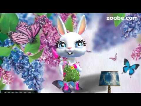 ZOOBE зайка Поздравление Крёстной с Днём Рождения