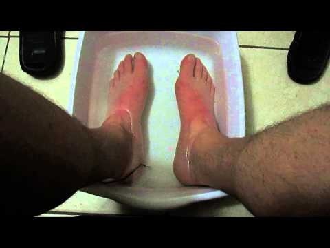 Video Relieve foot pain, foot numbness, foot cramping & poor circulation using a MgSO4 foot bath