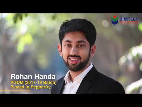 Rohan Handa Batch(2017-19) placed in pepperfry