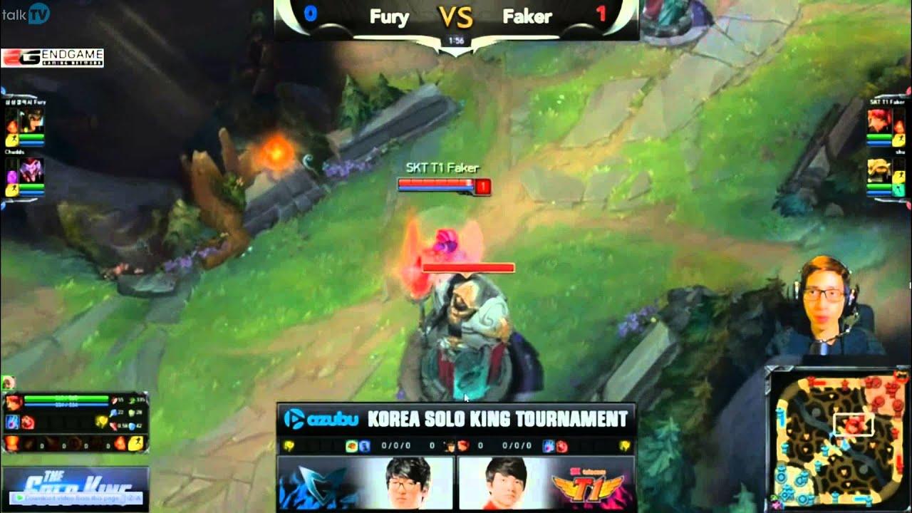 LMHT: Faker vs Fury giải The Solo King 1v1 Hàn Quốc (Game 2)