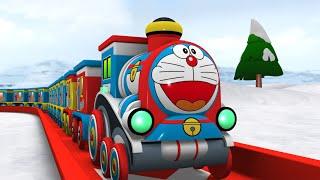 Toy Factory Farm House Train - Doremon Cartoon Train - Choo Choo Cartoon