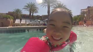 Park's Fam 2016 Summer Vacation Palm Springs Marriott Day 2
