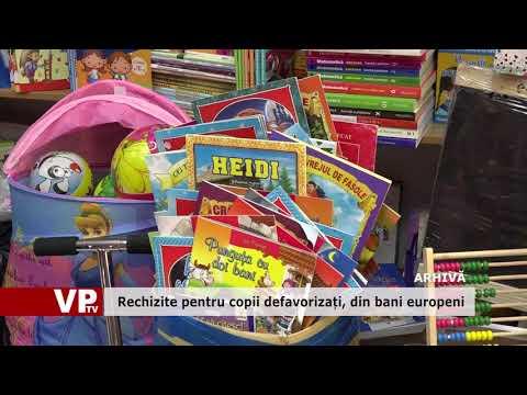 Rechizite pentru copii defavorizați, din bani europeni