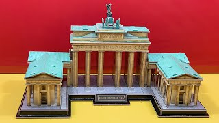 DIY Craft Instruction 3D Puzzle Cubicfun THE BRANDENBURG GATE