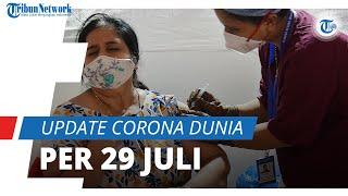 Update Corona Dunia per 29 Juli 2021: Total 196,6 Juta Terinfeksi, Tambahan Kasus Sejumlah 638 Ribu