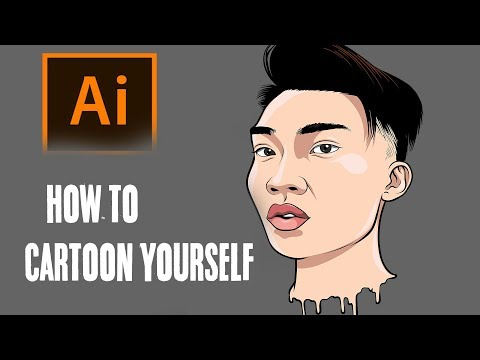 How To Cartoon Yourself !- Step By Step /RiceGum Tutorial ( ADOBE ILLUSTRATOR )
