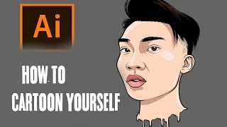 How To Cartoon Yourself !  Step By Step RiceGum Tutorial ( ADOBE ILLUSTRATOR )