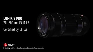 YouTube Video oQc2q7cDrA0 for Product Panasonic Lumix S Pro 70-200mm F4 OIS Lens (S-R70200) by Company Panasonic Corporation in Industry Lenses