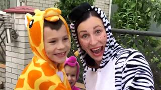 Kids play with ZEBRA and COLOR TIRES Video for Kids JoyJoy Lika