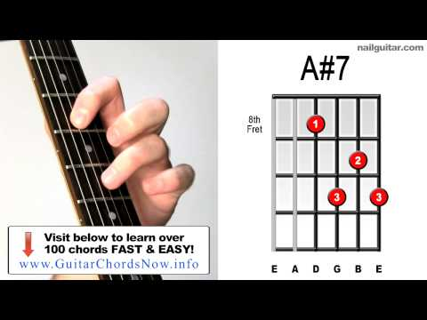 A#7 ♫♬ How To Play Must Learn Acoustic & Electric Guitar Chords