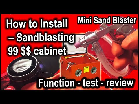 The cheapest sandblasting cabinet on the Internet - mounting
