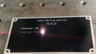 Laser Marking and Engraving on silk screen Aluminum plate
