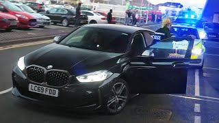Policewoman in Undercover BMW M135i SHUTS DOWN Huge Beach Convoy