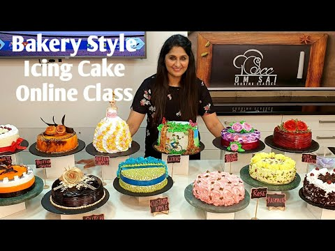 Bakery Style Icing Cake for online classes call☎️☎️788 786 6677 ,8551 8551 03 by Om Sai Cooking