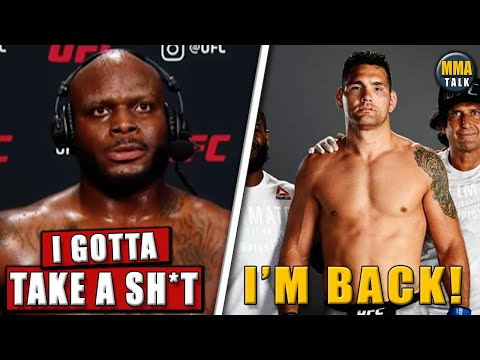 Derrick Lewis gives another HILARIOUS interview, Weidman reacts after his 1st win since 2017,results