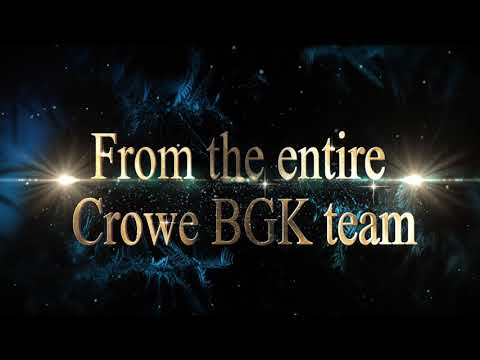 Crowe BGK – Holidays 2018