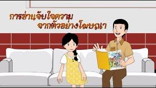 สื่อการเรียนการสอน การอ่านจับใจความ จากตัวอย่างโฆษณา ป.5 ภาษาไทย