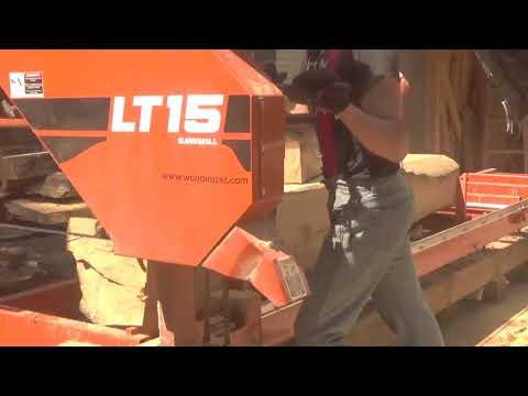 Woodmizer lt15, wiper repair, ugly white oak cut, up close