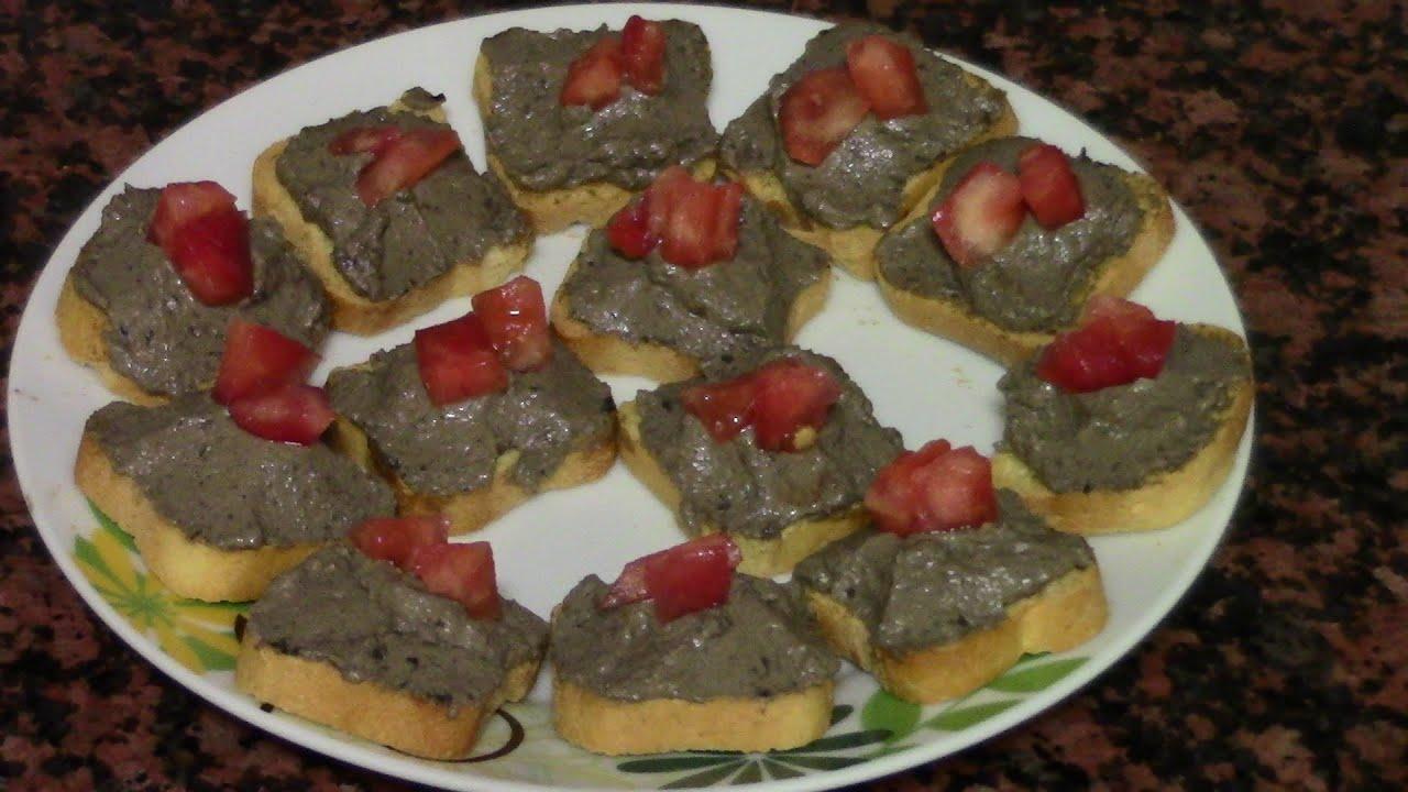 CANAPÉS DE ACEITUNAS NEGRAS | recetas de cocina faciles rapidas y economicas de hacer - comidas
