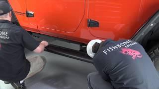 Fishbone Offroad (FB23070): Step Slider for Four-Door Jeep Wrangler JK