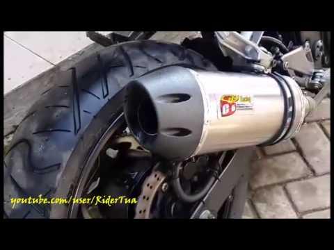 Suara Kawasaki Ninja 250 FI Knalpot CLD C6 Dahsyat bro!