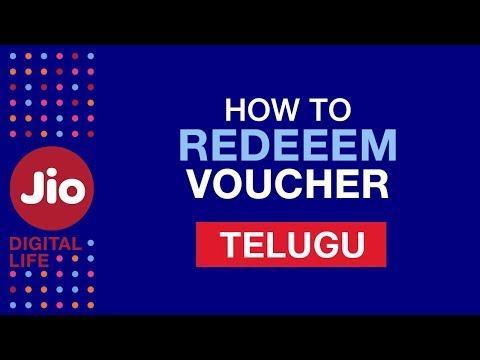 How to redeem voucher using MyJio app?