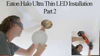 Ultra Thin LED Light Installation into Ceiling