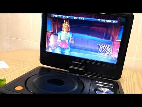"""APEMAN ~ Reproductor 9.5"""" DVD Portátil para Coche"""