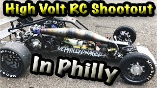 High Volt Rc Shootout Drag Racing In Philly (All Scales, 5th Scale Monsta!!!!)