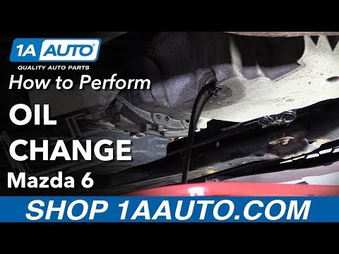 How to Perform Oil Change 02-07 Mazda 6