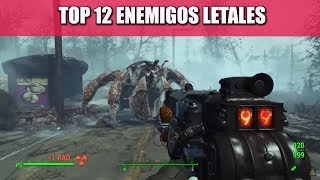 FALLOUT 4 | TOP 12 ENEMIGOS LETALES | (DLC´S INCLUÍDOS)