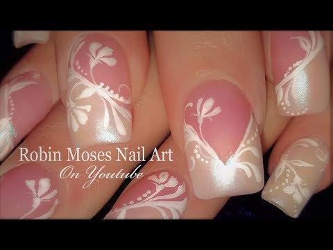 White Floral Nails | DIY Elegant Flower Nail Art Design Tutorial