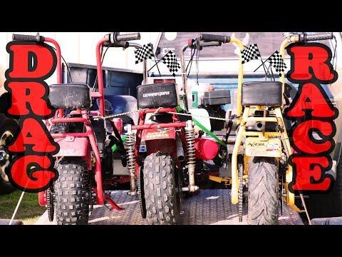 Download Mini Bike Vs Go Kart Drag Race Video 3GP Mp4 FLV HD Mp3