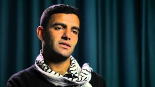 Palestinian footballer and hunger striker Mahmoud Sarsak campaigns against Israel