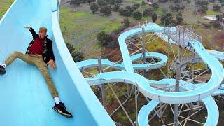 DIT VERLATEN WATERPARK HEEFT ZIEKE GLIJBANEN! (Gacy Land Amusement Park)