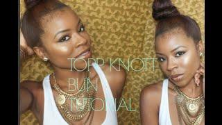 TopKnot Twisted Bun Using Braiding Hair Tutorial