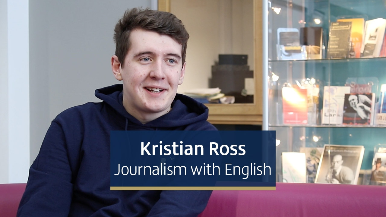 Kristian Ross, second year Journalism with English student from Newcastle