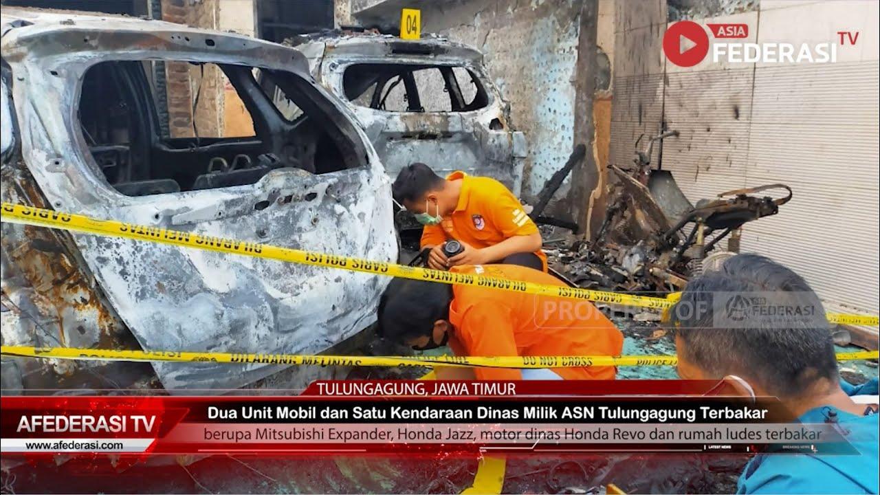 Dua Mobil dan Satu Kendaraan Dinas ASN di Kota Marmer Dibakar