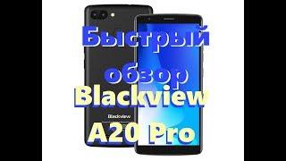 Смартфон Blackview A20 Black от компании Cthp - видео 3