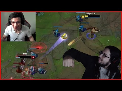Imaqtpie Teaches How To Lane As Adc | Shiphtur's Intense Low Hp 1v1 Battle - Best of LoL Streams #59
