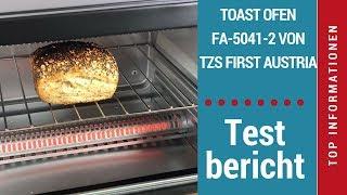 """ᐅ Unboxing- und Test-Video des 10-Liter-Infrarot-Toast-Backofens """"FA-5041-2"""" TZS First Austria ☑"""
