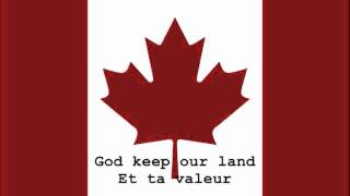 National Anthem of Canada Instrumental with lyrics