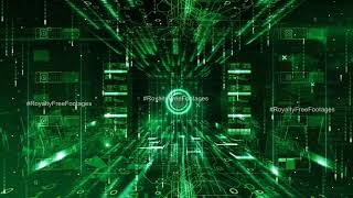 Hi tech Cyber security intro | abstract matrix background loops | digital technology motion graphics