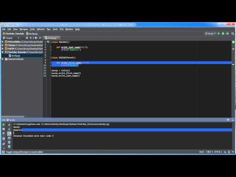 Python Programming Tutorial – 32 – Inheritance