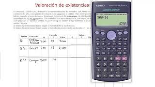 34) Ejemplo de método FIFO o método PEPS en la valoración de