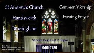 St Andrew's CW Midweek Evening Prayer – Wednesday 26th May 2021 – 7.00pm