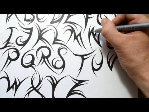 How To Draw A Tribal Font Mp3
