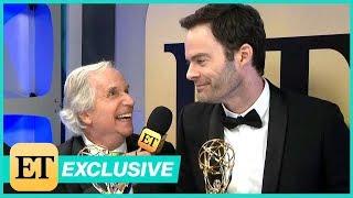 Watch Bill Hader Adorably Crash Henry Winkler's Backstage Interview (Exclusive)