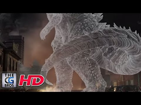 "CGI VFX Breakdowns : ""Godzilla- Sneak Peak"" – by MPC"